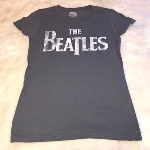 The Beatles gray band graphic tee M